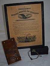 WWI Dispatch Case, Medical Kit & Veterinarian Docs
