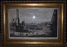 1822 Engraving Veduta di Piazza di Montecavallo