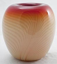 Nourot Orange & Cream Art Glass Ombre Vase