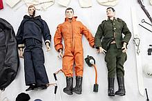 Lot Of 3 Hasbro G.I. Joe Dolls w/ Spare Clothes