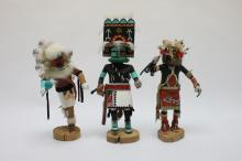 (3) Kachina Dolls:Ponguesuia Coyote Clan, Chapella