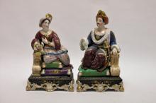 19th C. Dresden Porcelain 'Arab' King & Queen