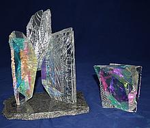 Grant Miller Prismatic Art Glass Sculptural Group