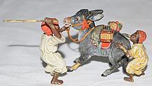 Vienna Bronze,2 Nubians Persuading a Donkey