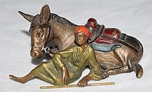 Austrian Cold Painted Vienna Bronze Arab w Donkey