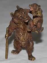 Bergman, Austrian Geschutzt Vienna Bronze Bears