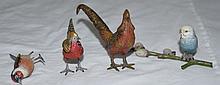 4 Austrian Cold Painted Vienna Bronze Birds