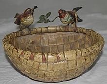 Bergman Austrian Geschutzt Vienna Bronze Bird Nest