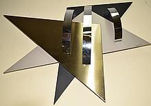 Jere Geometric Enamel & Stainless Steel Sculpture