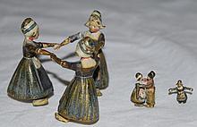 3 Austrian Cold Painted Vienna Bronzes Dutch Girls