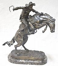 Bronco Buster Frederic Remington Bronze Sculpture