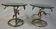 Pair of Mid Century Modern Lily Form End Tables