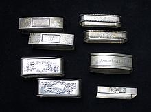 8 Assorted Sterling Silver Napkin Rings
