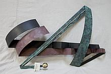 Curtis Jere' Modern Art Metal Sculpture