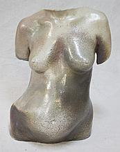 Art Pottery Torso of a Pregnant Nude