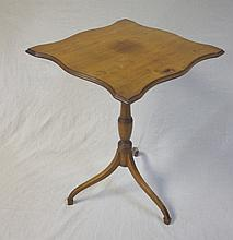 19th Century Century Maple Tilt Top Candle Stand