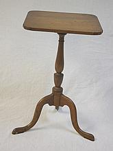 18/19th Century Maple & Walnut Candle Stand