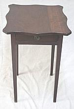 18/19thC Hepplewhite Candle Stand w/ Drawer