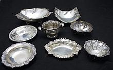 8 Sterling Silver Serving Platters & Bowls