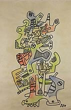 JEAN DUBUFFET (French, 1901-1985) (Attrib.)