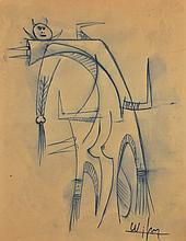 WIFREDO LAM (Cuban, 1902-1982) (Attrib.)