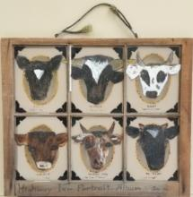 vintage cow painting on glass
