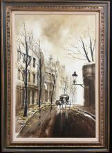Le Grand oil on canvas signed painting