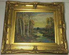 SIGNED OLD OIL LANDSCAPE PAINTING