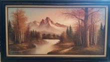 Large Signed Oil On Canvas Painting