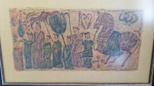 Antique Chinese Stone Rubbing Art N. Wei Dynasty