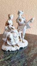 Vintage Style Hand Painted Porcalian Vicotrian Couple