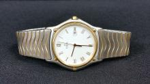 EBEL MENS LARGE SIZE 18K & SS WATCH