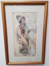 Rare Edna Hibel Painting
