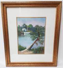 JEAN FLORIDA OIL PAINTING