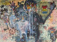 JEAN MICHEL BASQUIAT ATTRIBUTED PAINTING