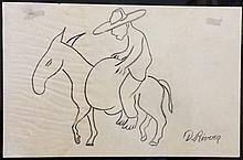 Diego Rivera (Mexican, 1886-1957) GRAPHITE ON PAPER