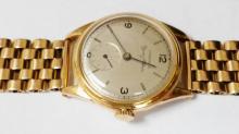 Vintage Longines Cuervo Y Sobrinos 18k Yellow Gold Automatic Mens Watch