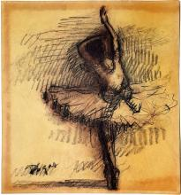 Edgar Degas watercolor on paper