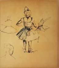 Edgar Degas mixed media on paper