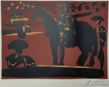 Pablo Picasso original hand signed Linocut with gallery certificate 14.5
