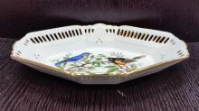Sol Labos Brien hand painted exotic birds on blanks porcelain plate france 8