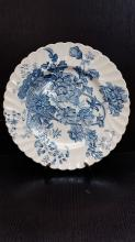 Clarice Cliff royal Staffordshire blue & white porcelain plate