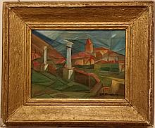 Diego Rivera (Mexican, 1886-1957) OIL ON CANVAS 16