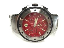 MOVADO CHRONO RED FACE MENS WATCHMODEL 84.65.1896