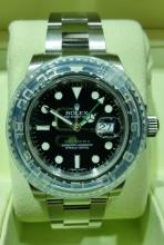ROLEX GMT MASTER II SS MENS WATCH, BRAND NEW WITH BOX & PAPERS
