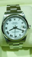 ROLEX SS MID SIZE WATCH WITH BOX & PAPERS