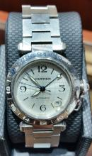 CARTIER PASHA SS LARGE SIZE MENS AUTOMATIC WATCH