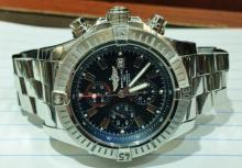 BREITLING SUPER LARGE SIZE SS CHRONOGRAPH WATCH