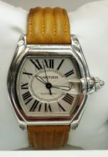CARTIER ROADSTER MENS LARGE SIZE SS AUTOMATIC WATCH