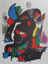 JOAN MIRO VOLUME IV ORIGINAL HAND SIGNED COLOR LITHOGRAPH NO. II IN BLACK PENCIL (M) EDITION 4000EX. 12.5